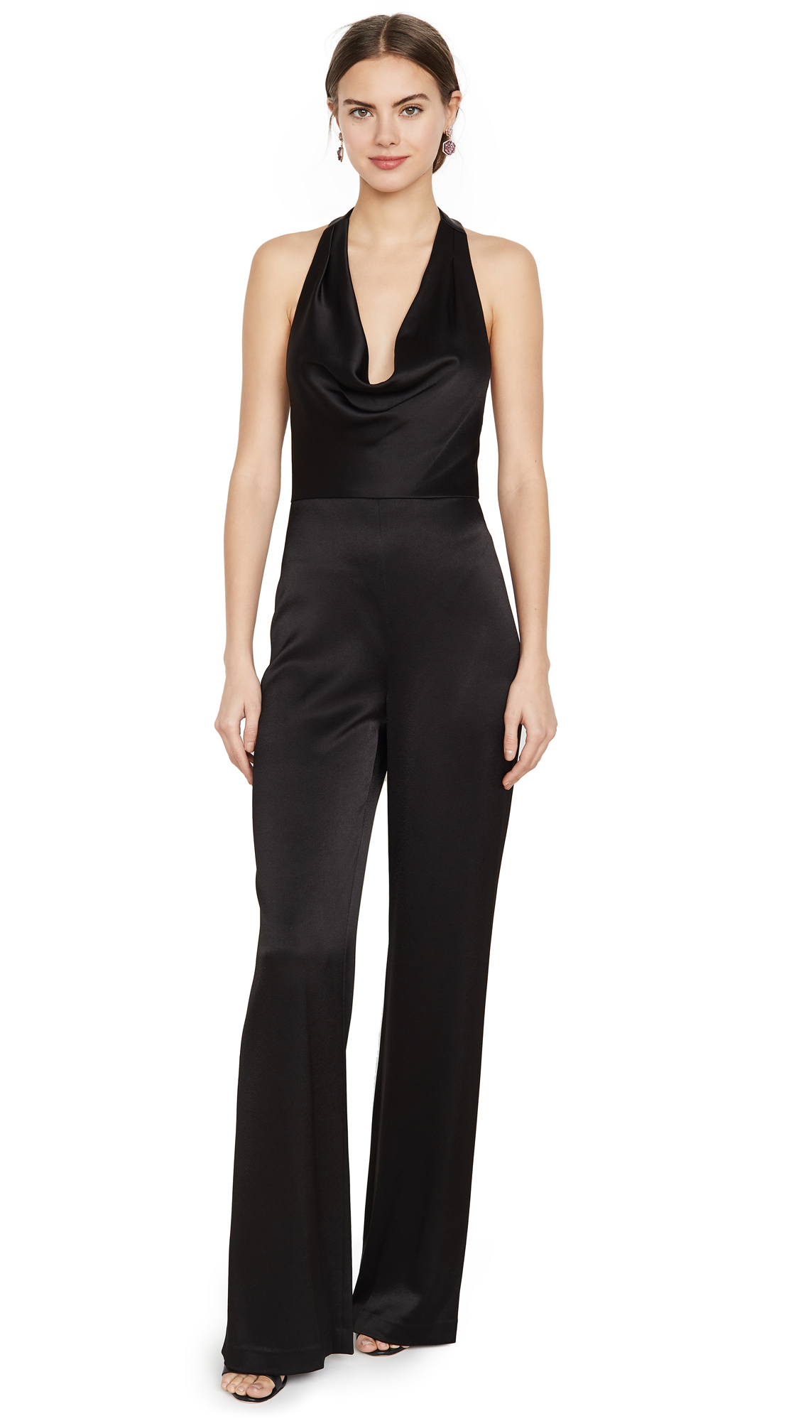 Buy alice + olivia online - photo of alice + olivia Salem Cowled Halter Jumpsuit