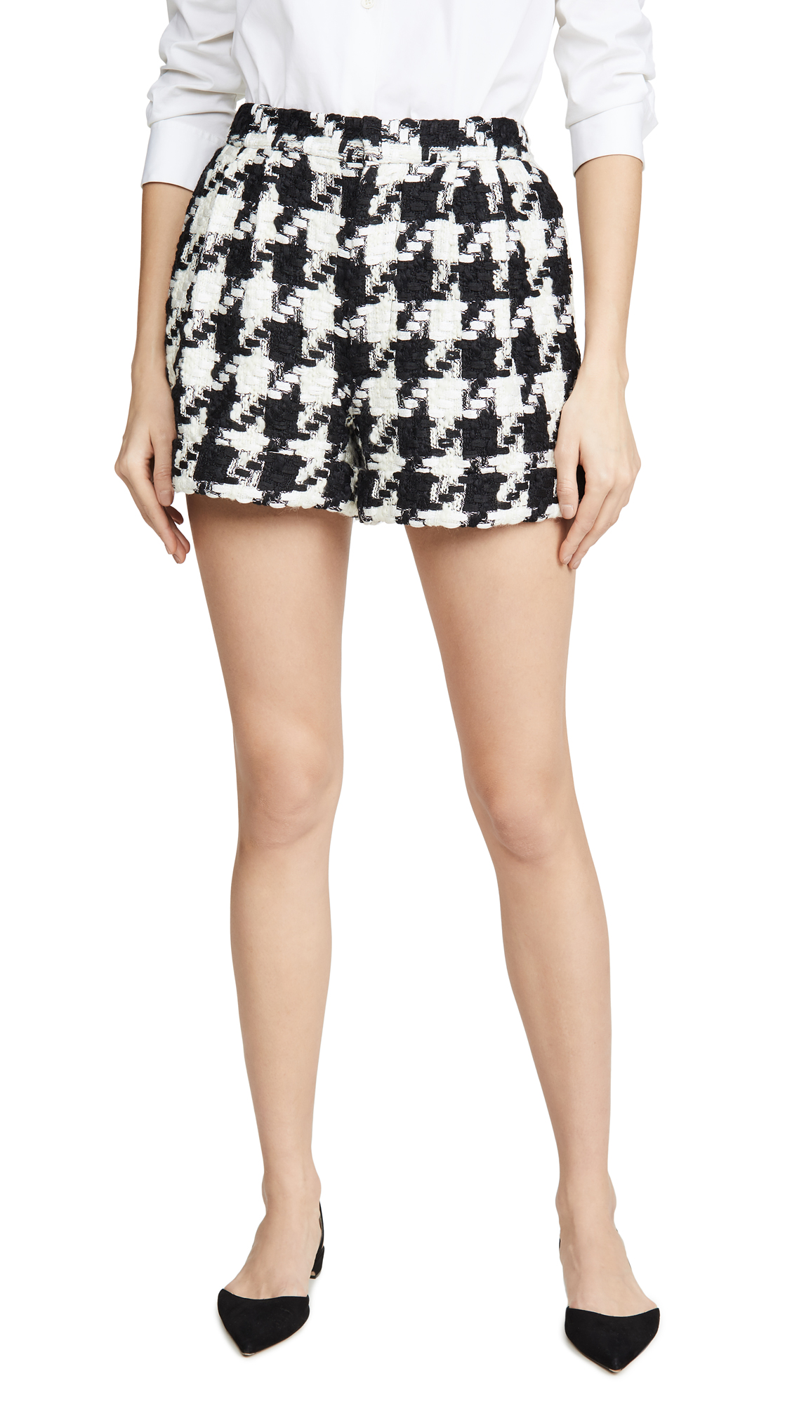 Buy alice + olivia online - photo of alice + olivia Conry Pleated Cuff Shorts