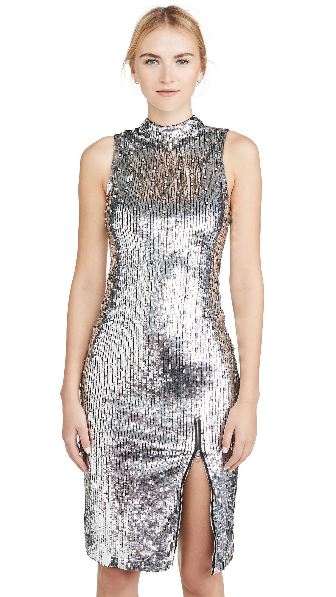 alice + olivia Malika Sequin Embellished Sleeveless Dress - 40% Off Sale