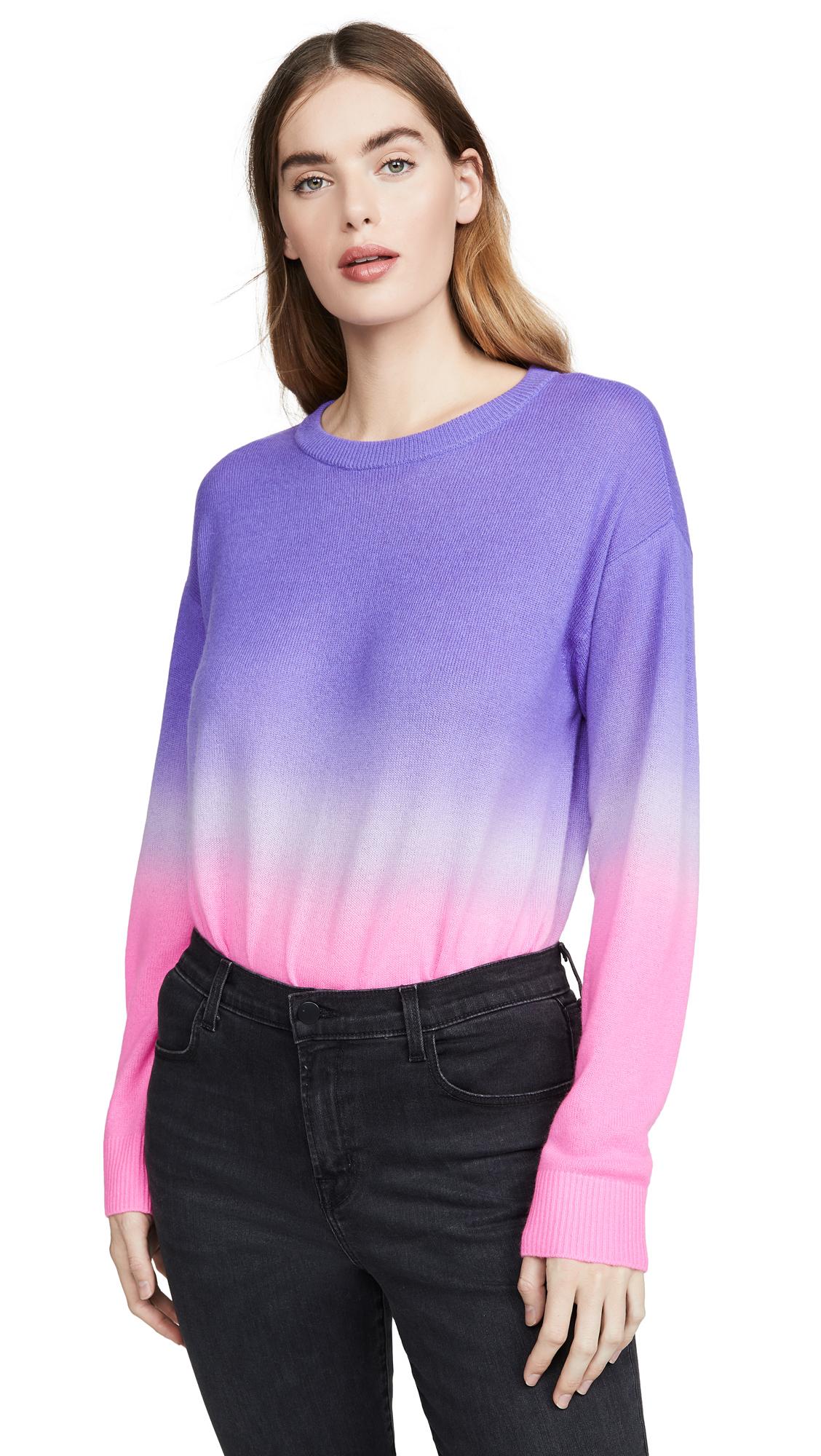 Buy alice + olivia online - photo of alice + olivia Gleeson Dip Dye Long Sleeve Cashmere Pullover