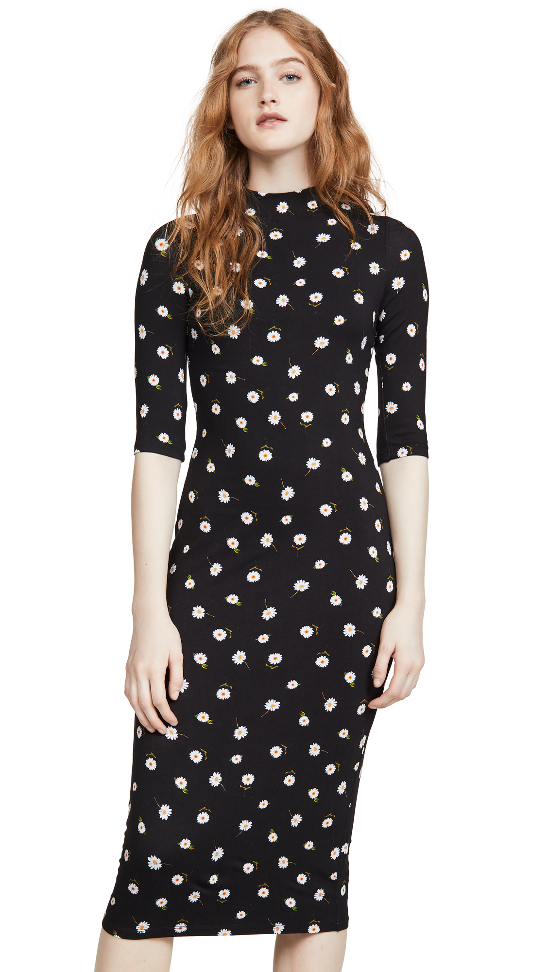 Buy alice + olivia online - photo of alice + olivia Delora Fitted Mock Neck Dress