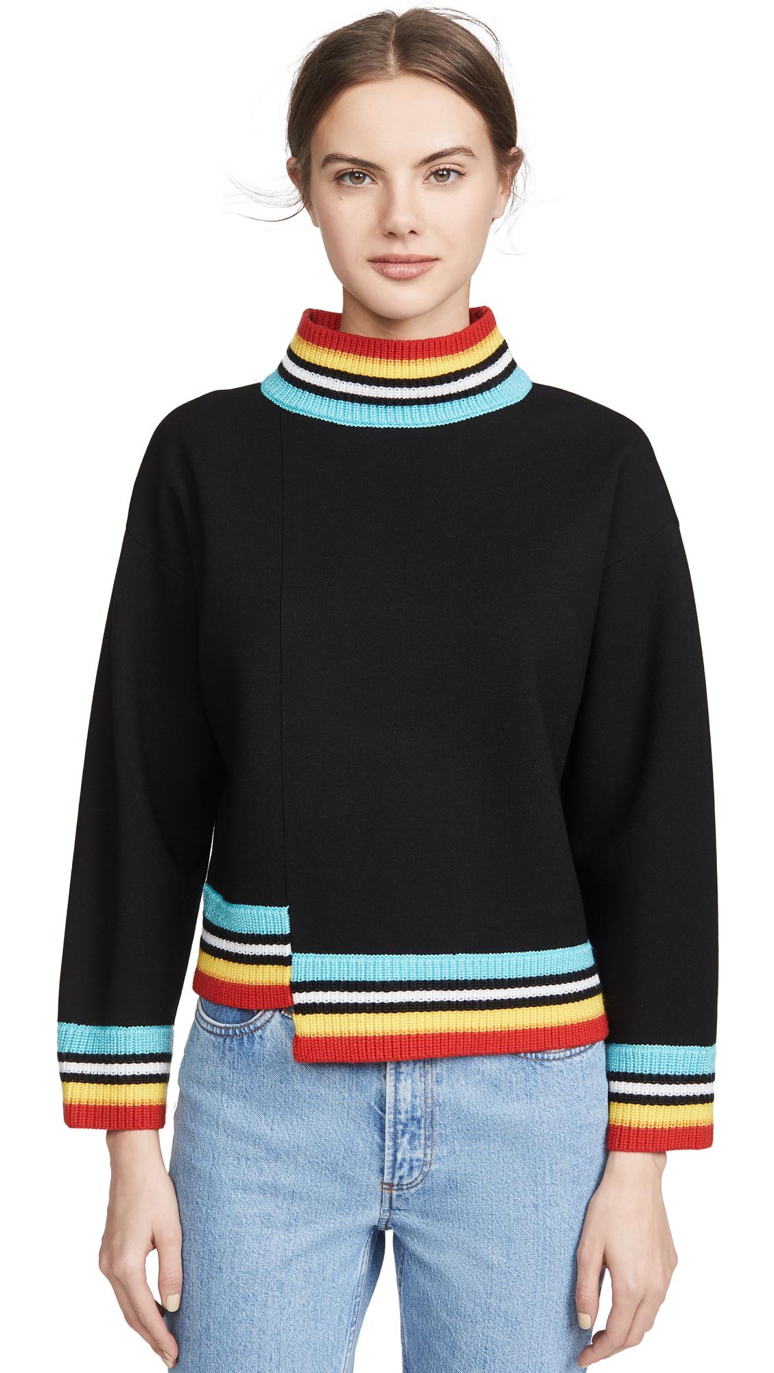 Buy alice + olivia online - photo of alice + olivia Aleta Asymmetrical Pullover
