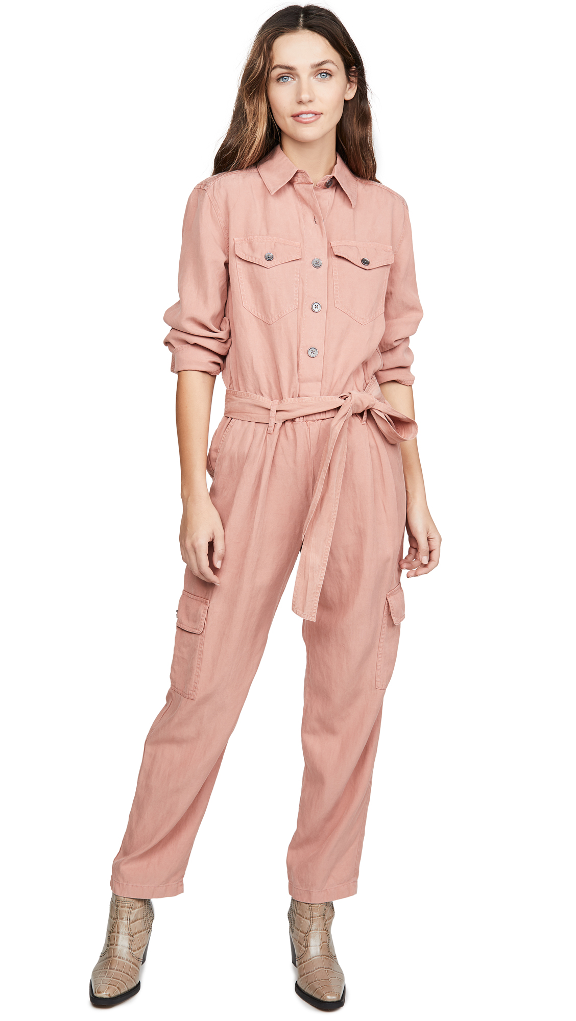 Buy alice + olivia online - photo of alice + olivia Kai Cargo Jumpsuit