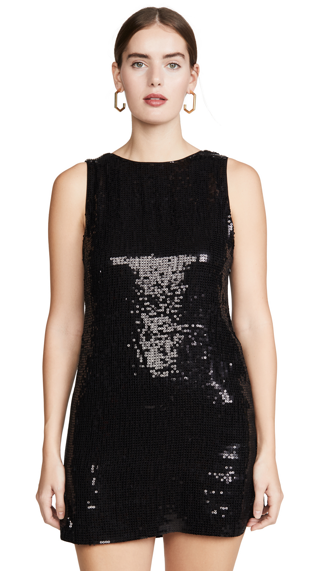 Buy alice + olivia online - photo of alice + olivia Kamryn Sequin Two Way Cowl Dress