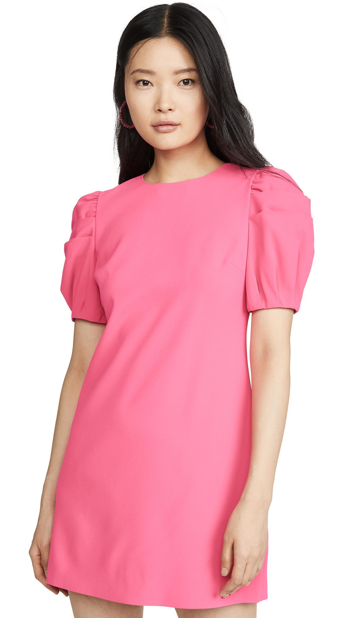 Buy alice + olivia online - photo of alice + olivia Hanita Puff Sleeve Shift Dress