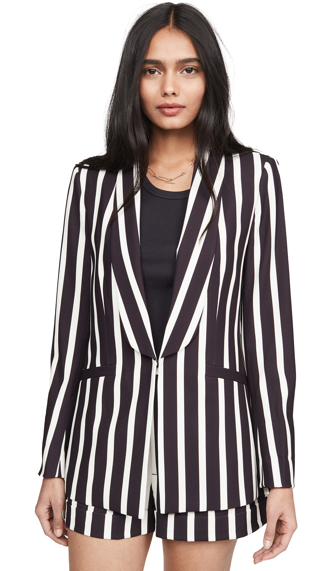 Buy alice + olivia online - photo of alice + olivia Skye Strong Shoulder Boxy Boyfriend Blazer
