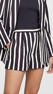 alice + olivia Conry 裥褶裤脚短裤