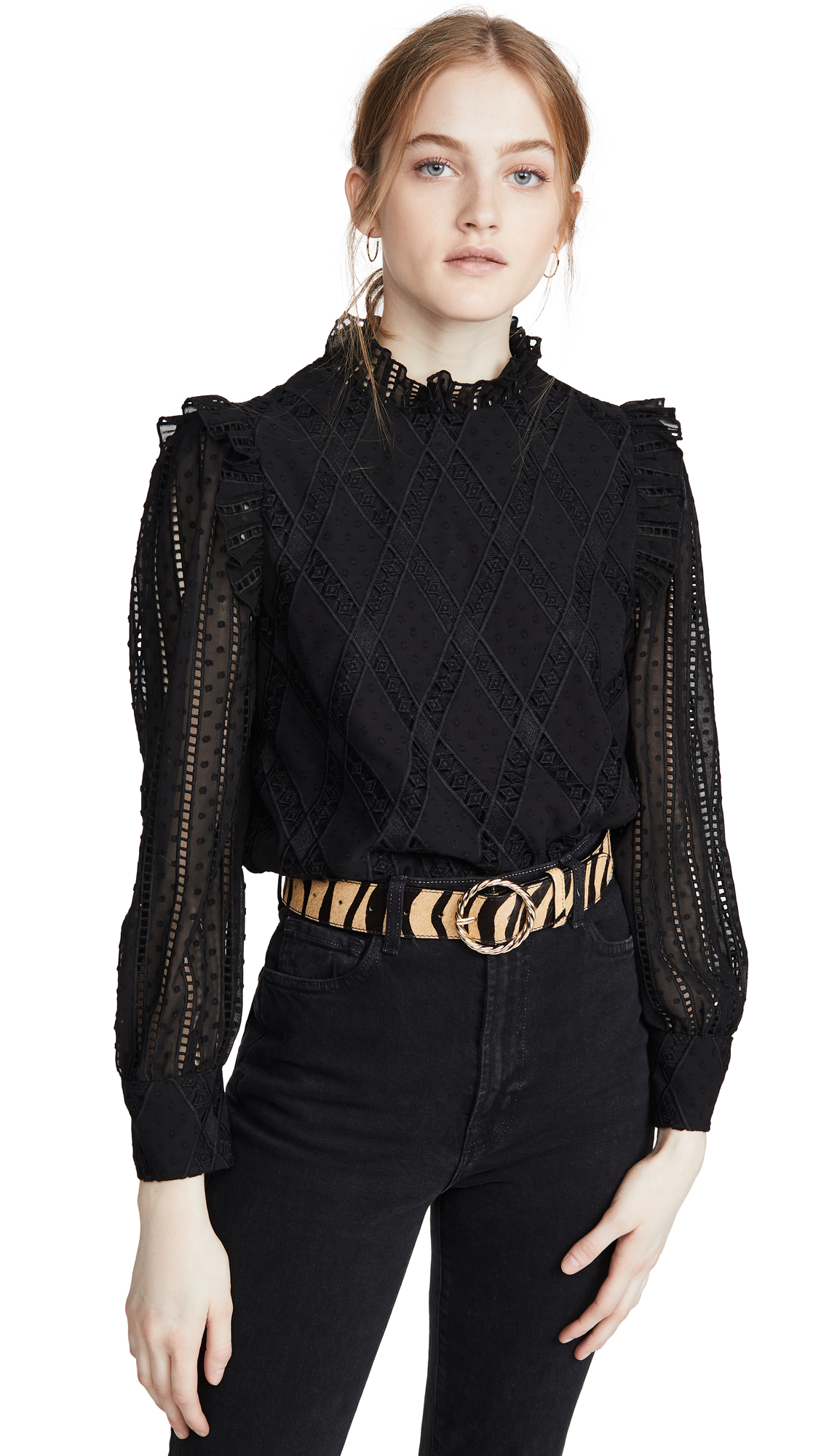 Buy alice + olivia online - photo of alice + olivia Jos Puff Sleeve Cropped Top