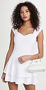 alice + olivia Brinda 双层荷叶边合身喇叭形连衣裙