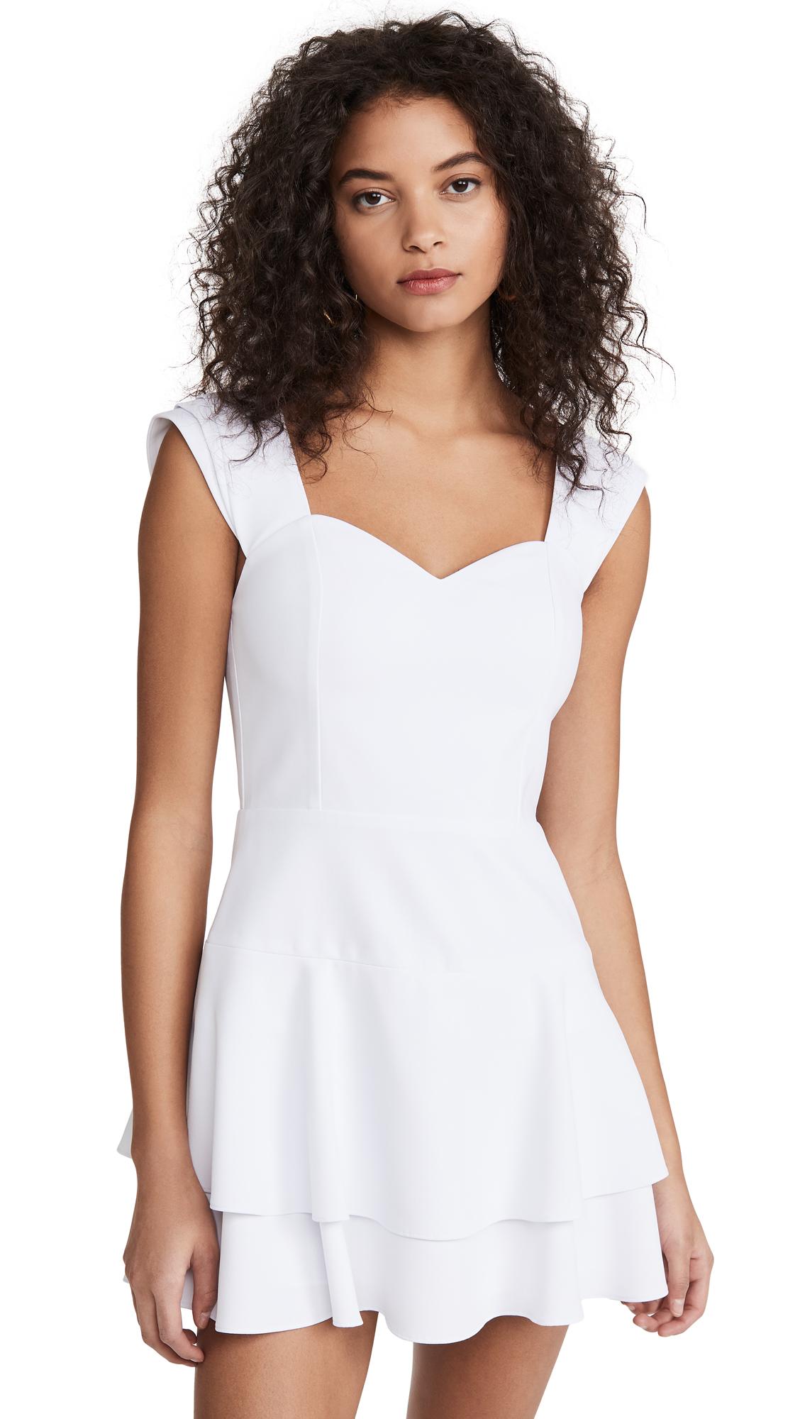 Buy alice + olivia online - photo of alice + olivia Brinda Double Ruffle Fit Flare Dress