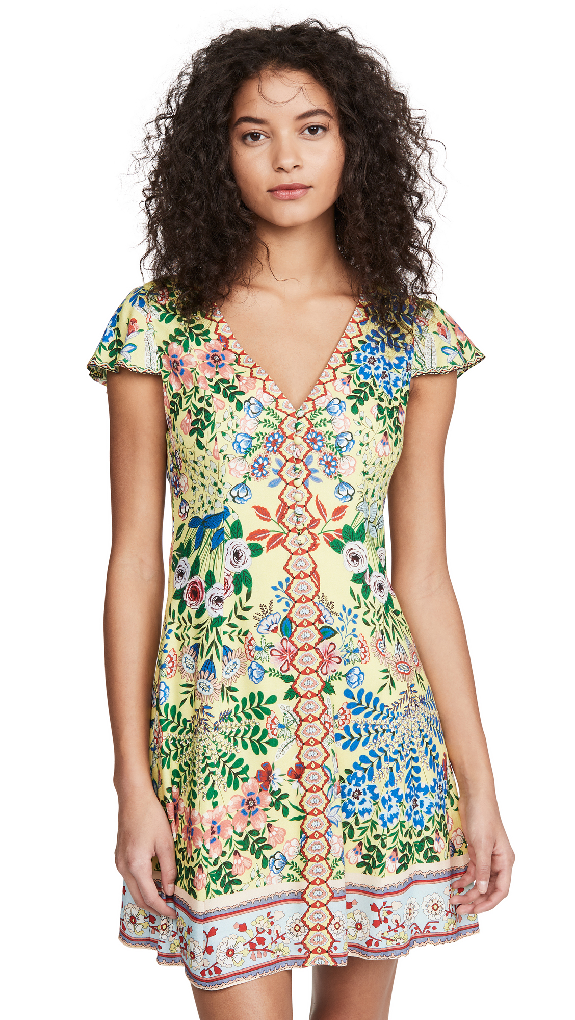 alice + olivia Hadley Button Fit Flare Dress – 50% Off Sale