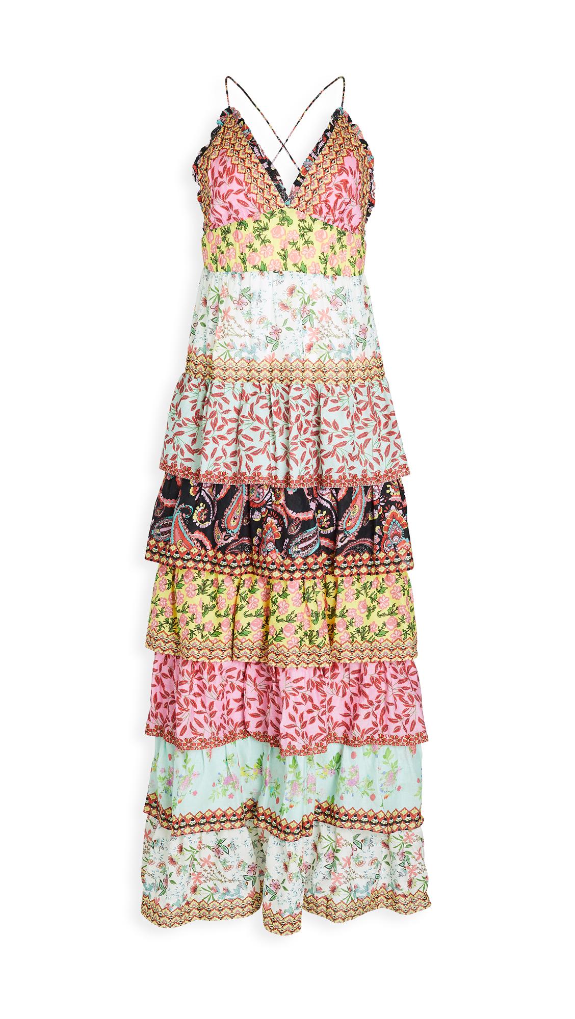 Buy alice + olivia Imogene Tier Ruffle Spaghetti Strap Dress online beautiful alice + olivia Clothing, Dresses
