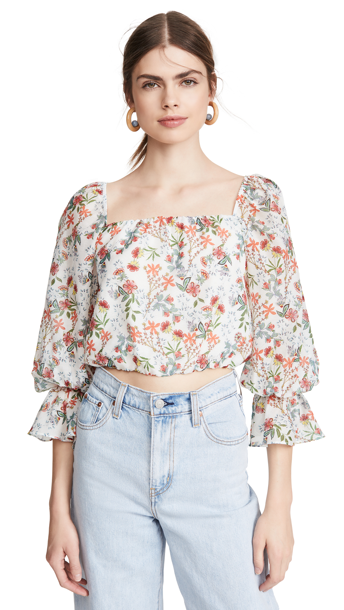 alice + olivia Deb Square Neck Blouse – 50% Off Sale