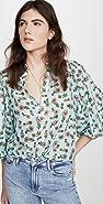 alice + olivia Casey 宽松束口袖女式衬衫
