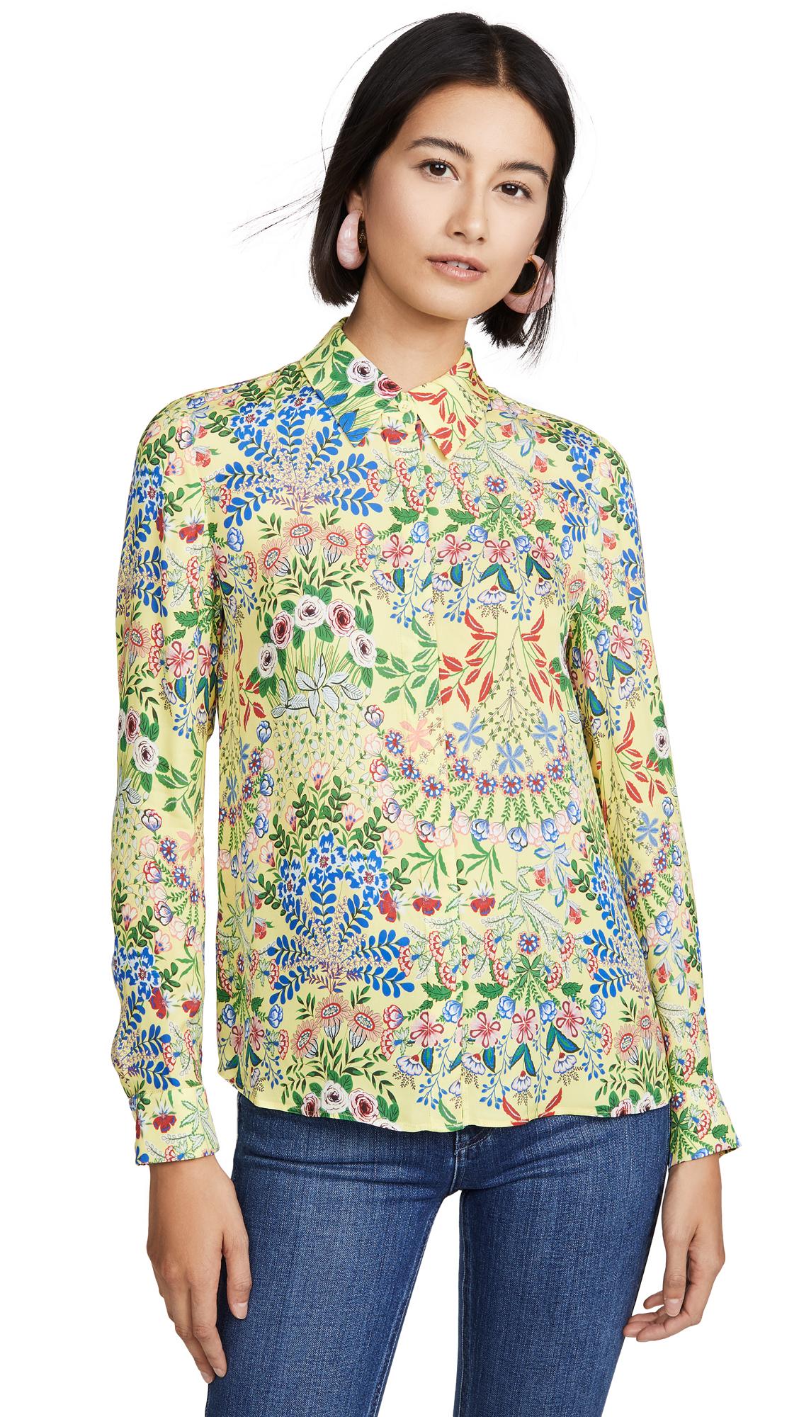 alice + olivia Willa Button Down Shirt – 50% Off Sale
