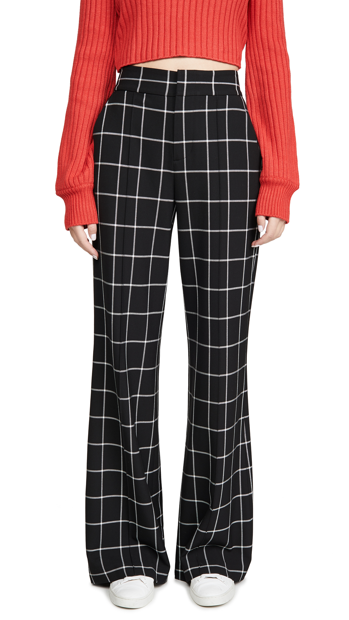 Buy alice + olivia online - photo of alice + olivia Dylan High Waist Wide Leg Pants