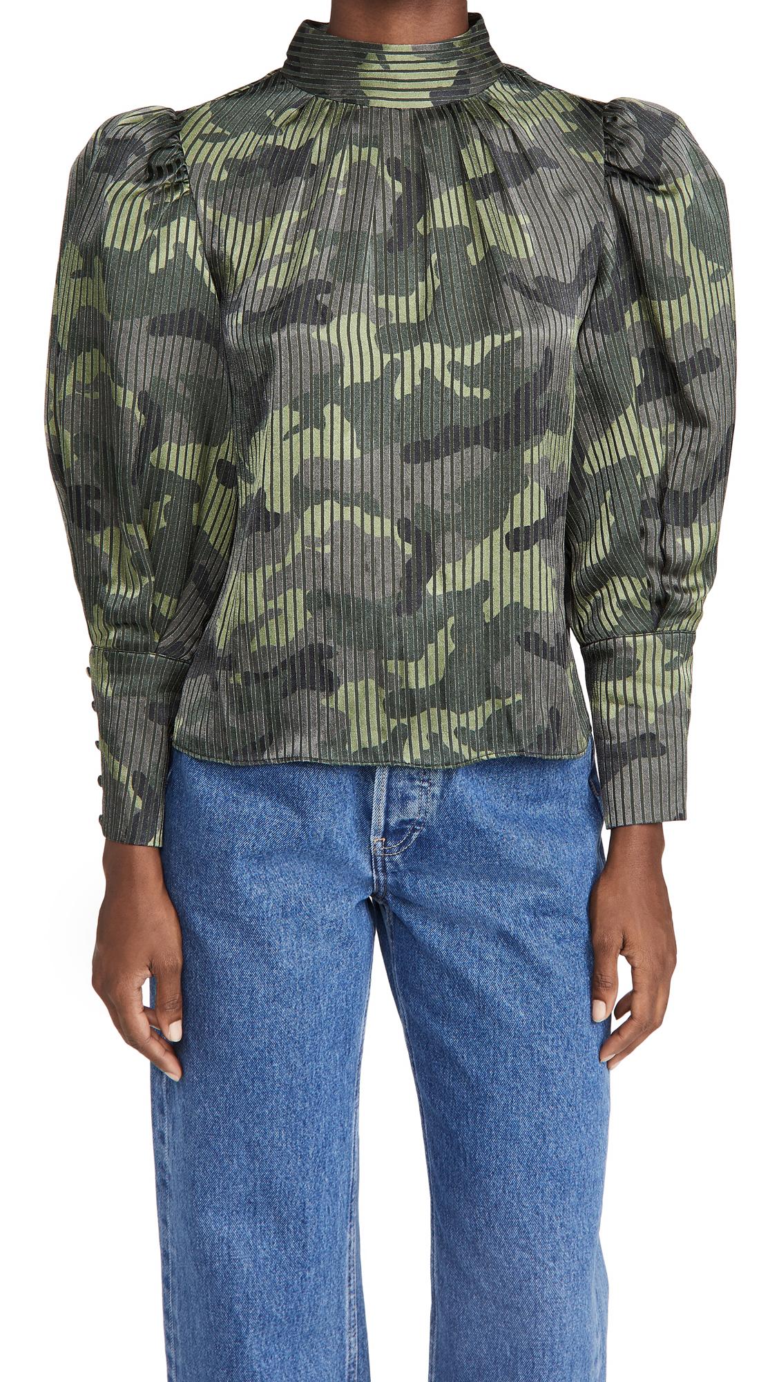 alice + olivia Winslet Long Cuff Tunic Blouse