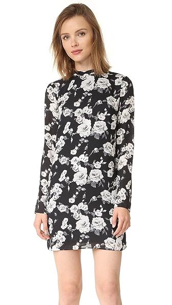 Ali & Jay Floral Mini Dress - Black Floral