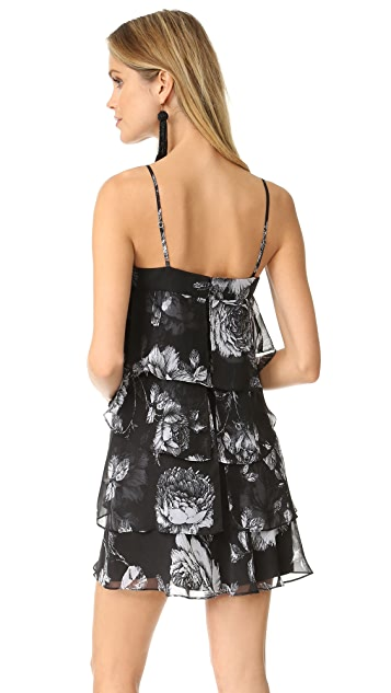 Ali & Jay Floral Tiered Flounced Mini Dress