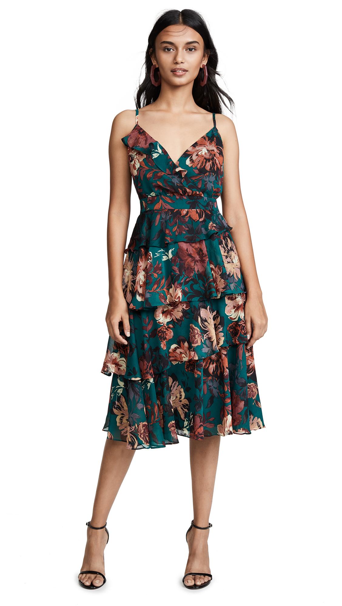 Ali & Jay Love Is All Around Midi Dress - Pine Floral