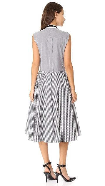 Adam Lippes Stand Collar Dress
