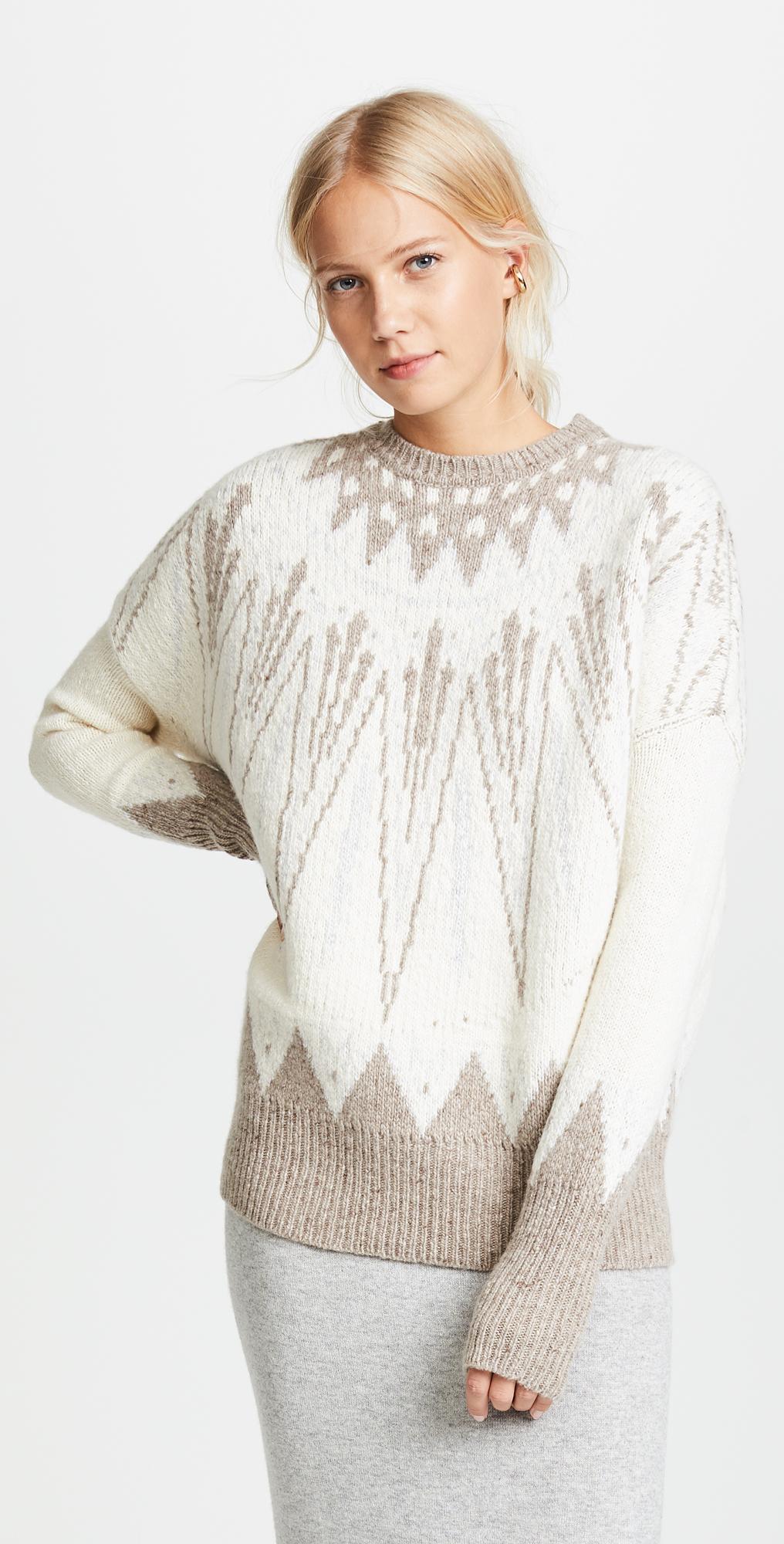 Adam Lippes Kashmir Fair Isle Sweater | SHOPBOP