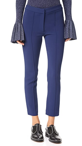 Adam Lippes Cigarette Pants In Royal Blue