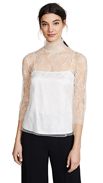 Adam Lippes Lace Blouse In Ivory