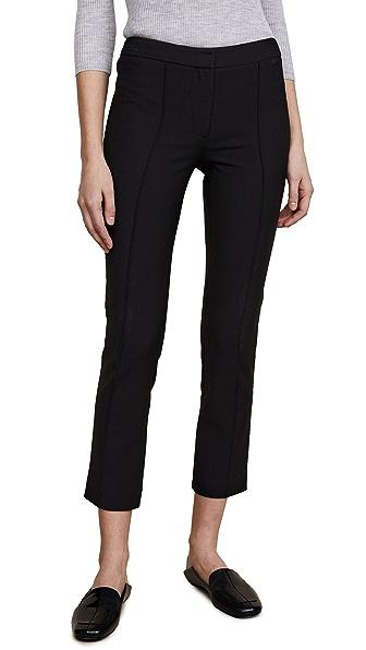 Adam Lippes Slim Ankle Pants In Black