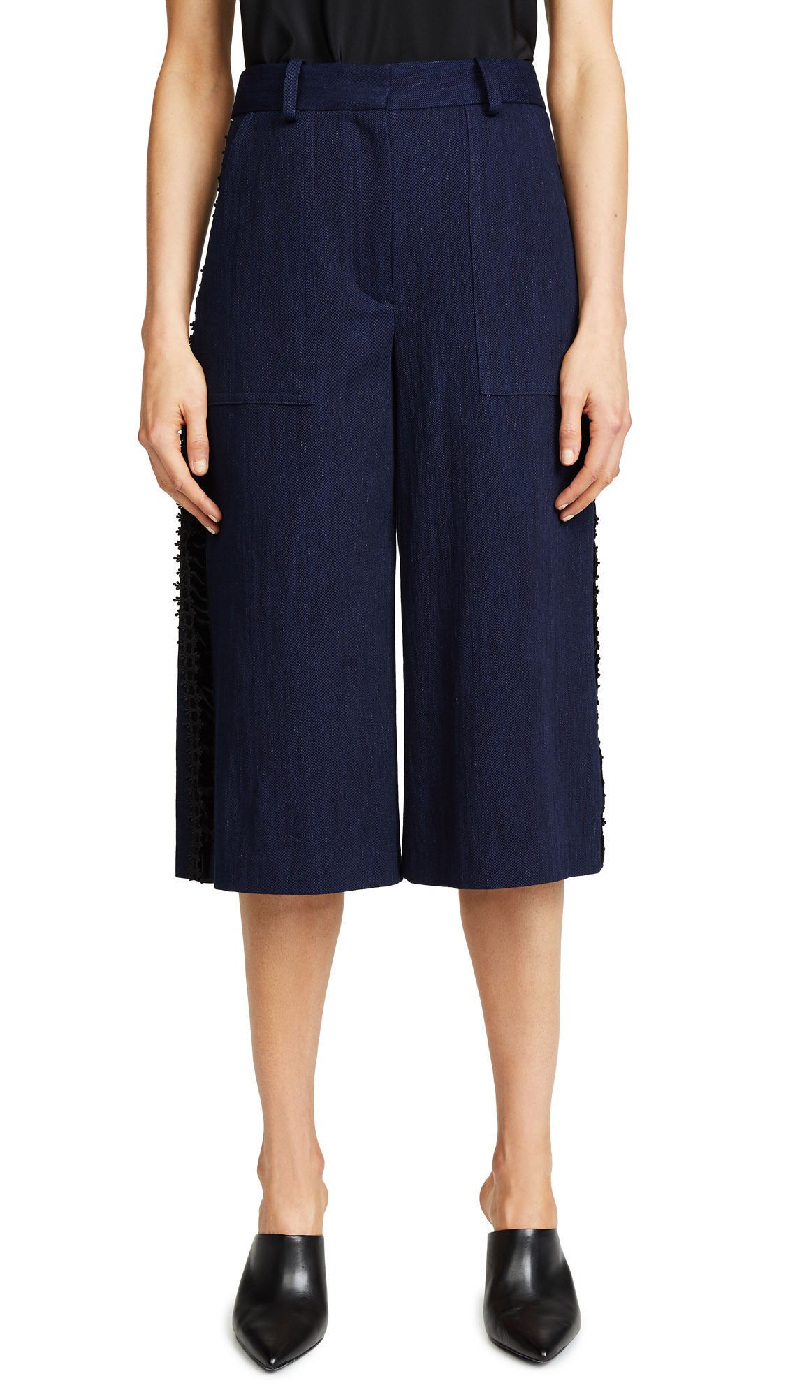 Adam Lippes Denim Cropped Pants