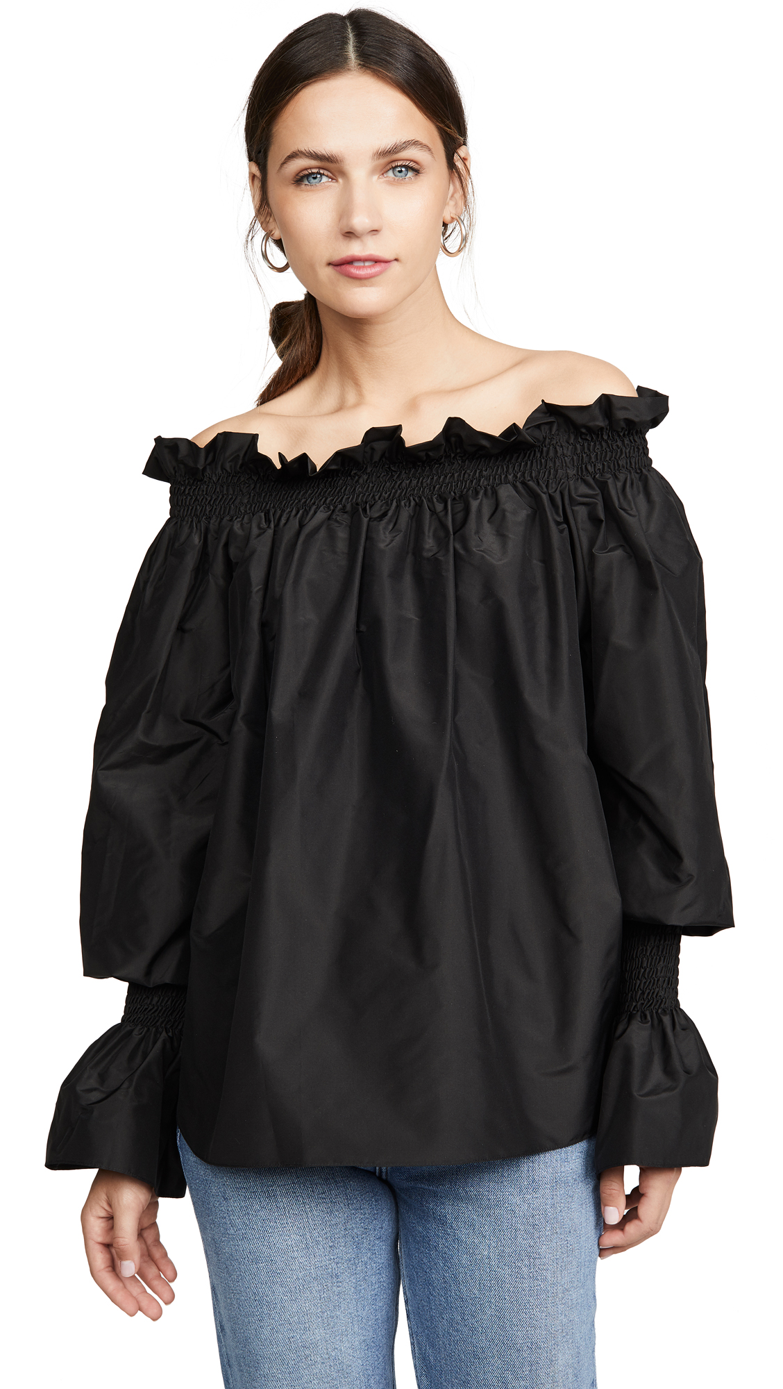 Buy Adam Lippes online - photo of Adam Lippes Taffeta Off shoulder Top