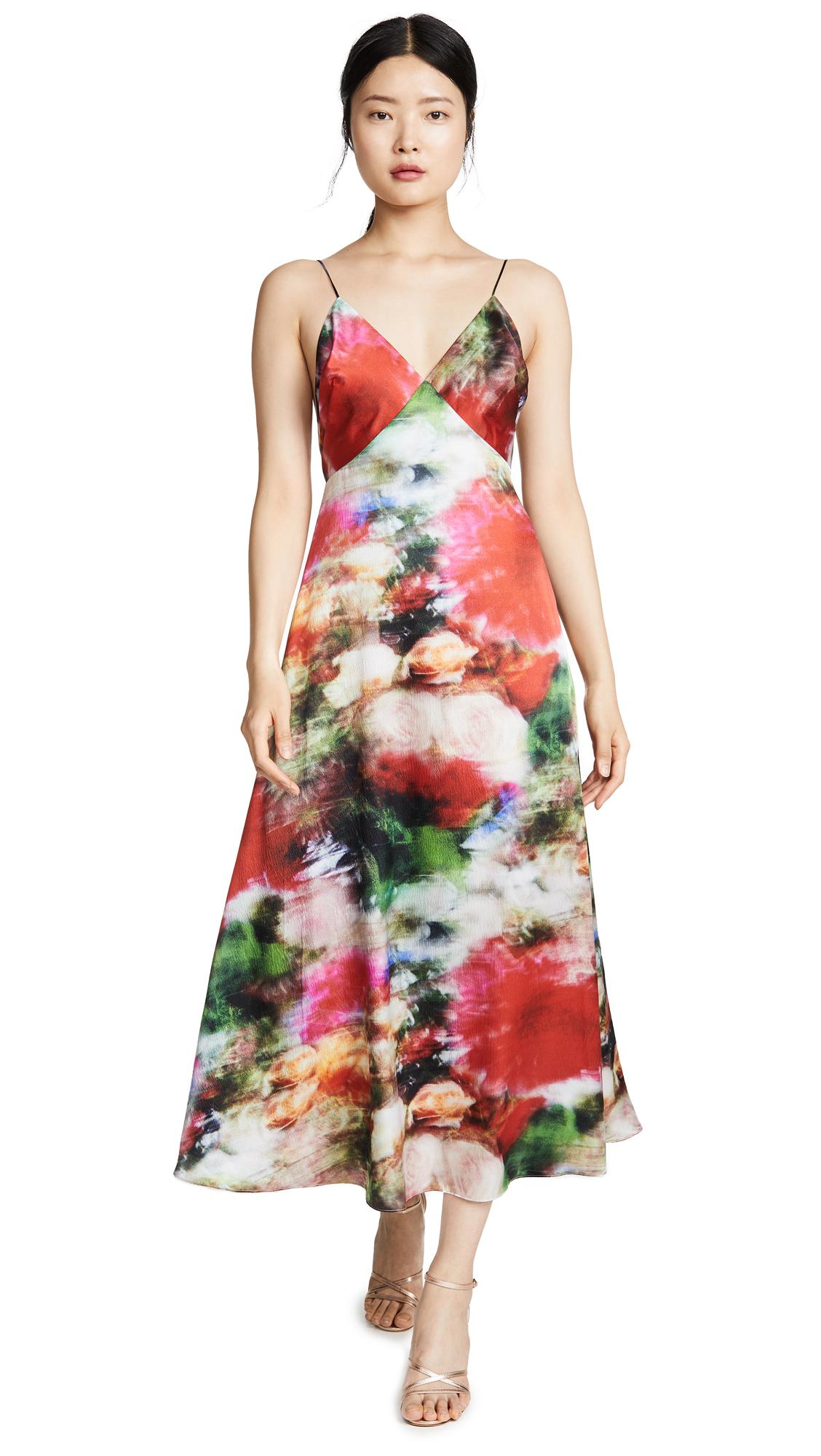 Buy Adam Lippes online - photo of Adam Lippes Hammered Silk Cami Dress