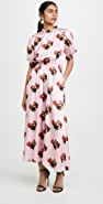 Adam Lippes Floral Smocked Dress