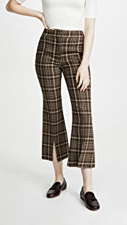 Adam Lippes Bell Crop Pant With Slit