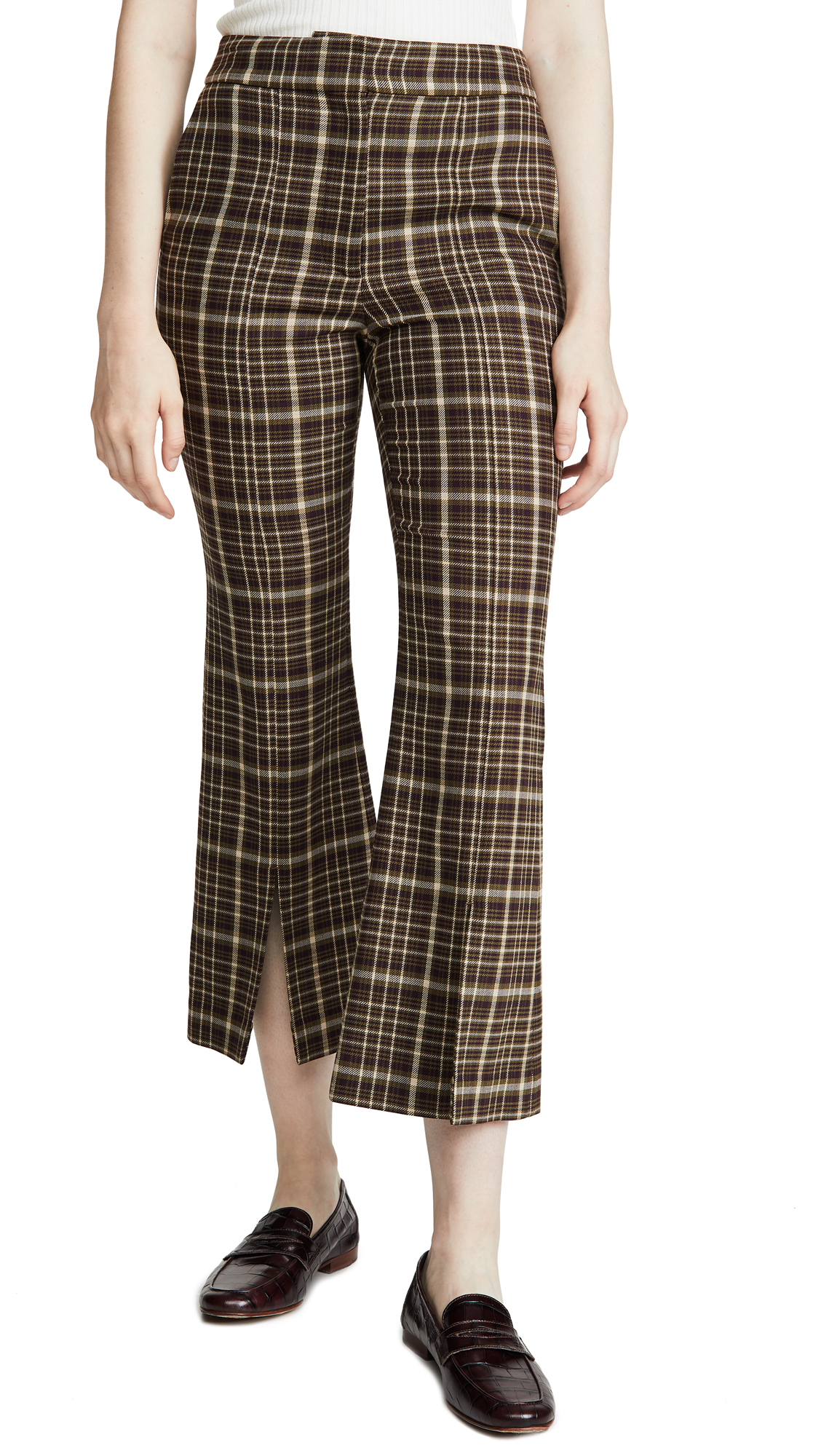 Buy Adam Lippes online - photo of Adam Lippes Bell Crop Pant With Slit