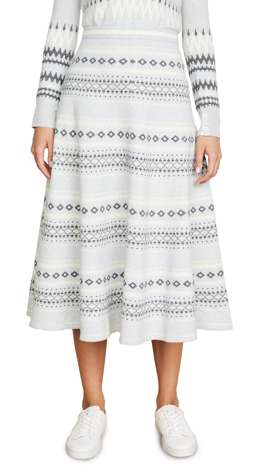 Buy Adam Lippes online - photo of Adam Lippes Fair Isle Knit Midi Skirt
