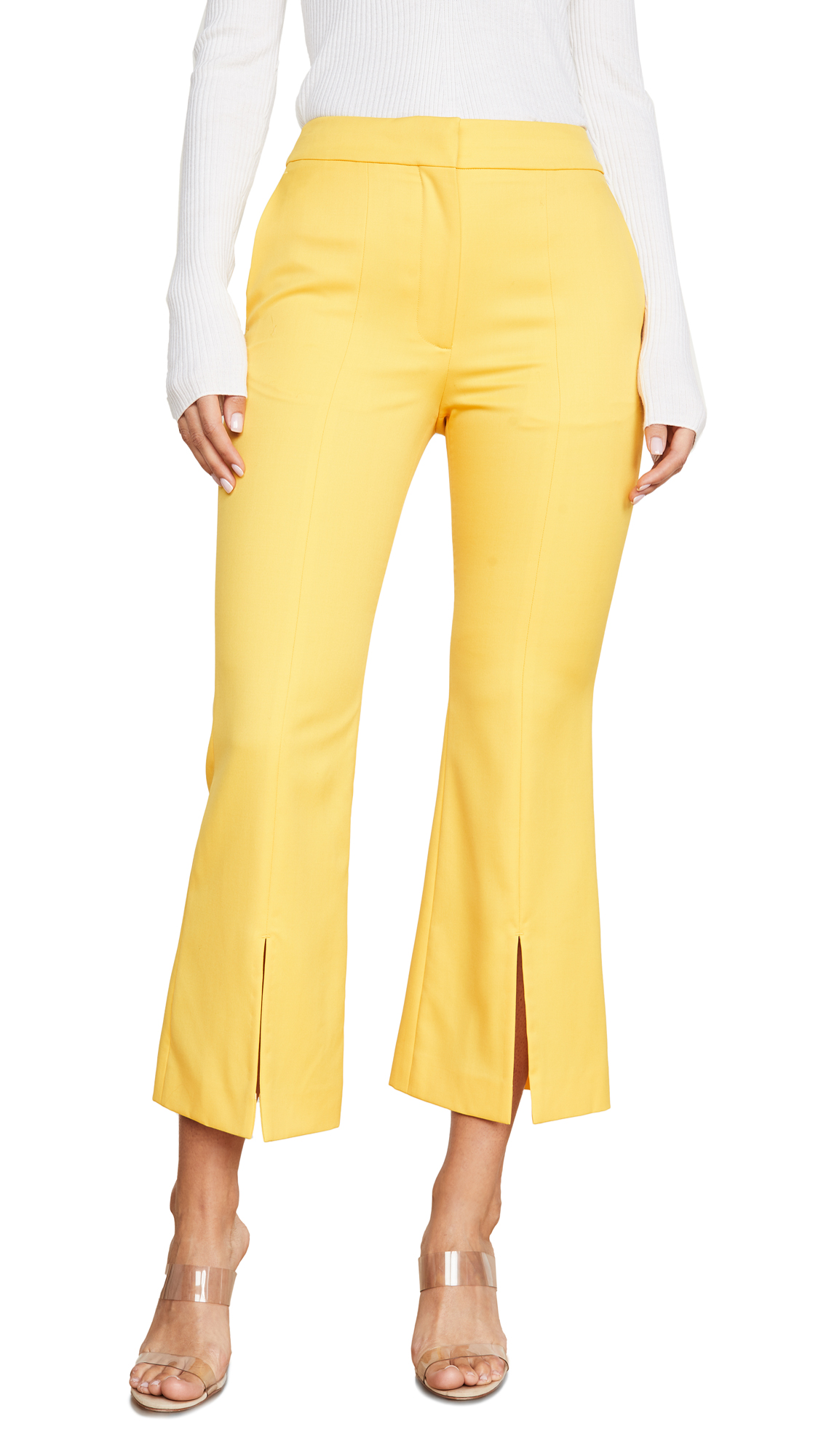 Buy Adam Lippes online - photo of Adam Lippes Tropical Bell Crop Trousers