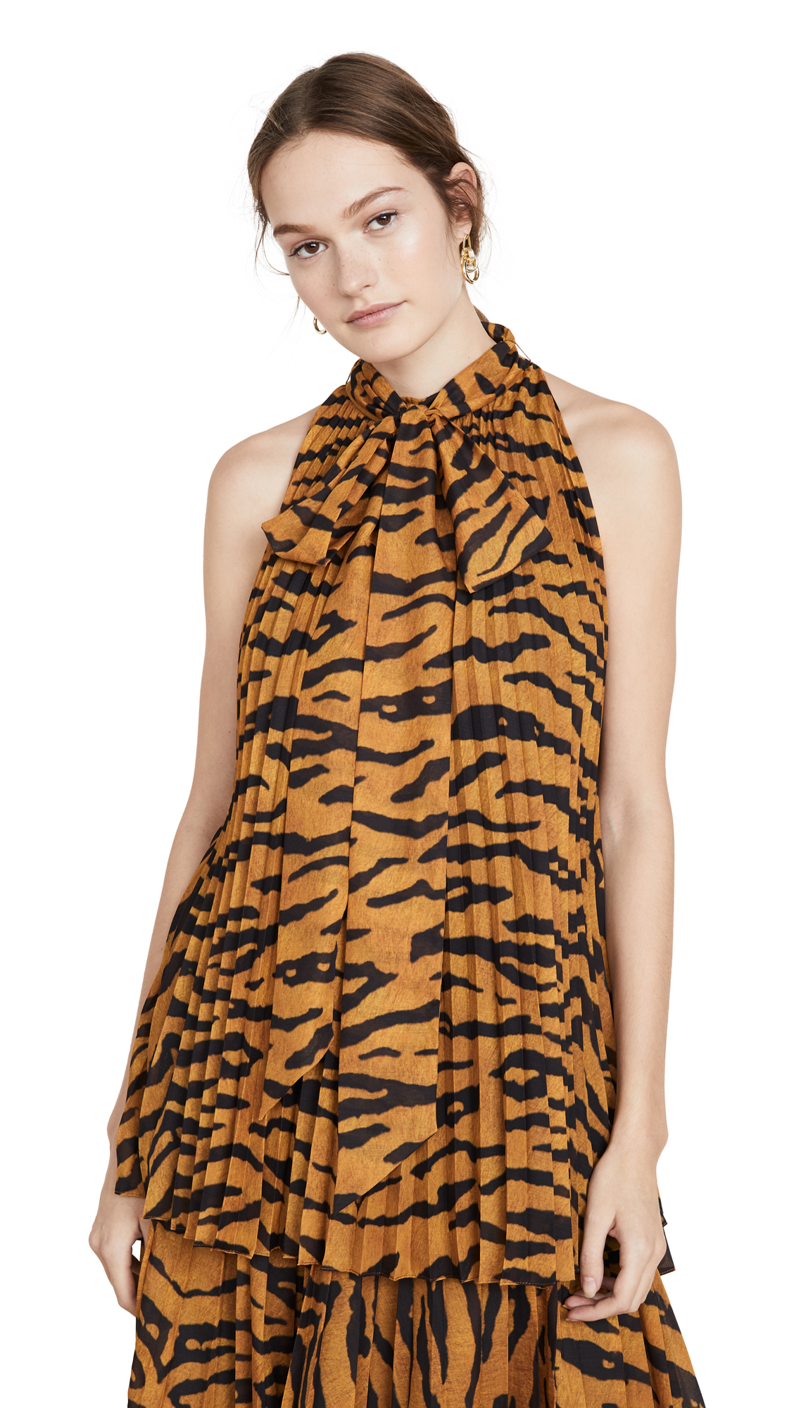Adam Lippes Printed Voile Top - 60% Off Sale