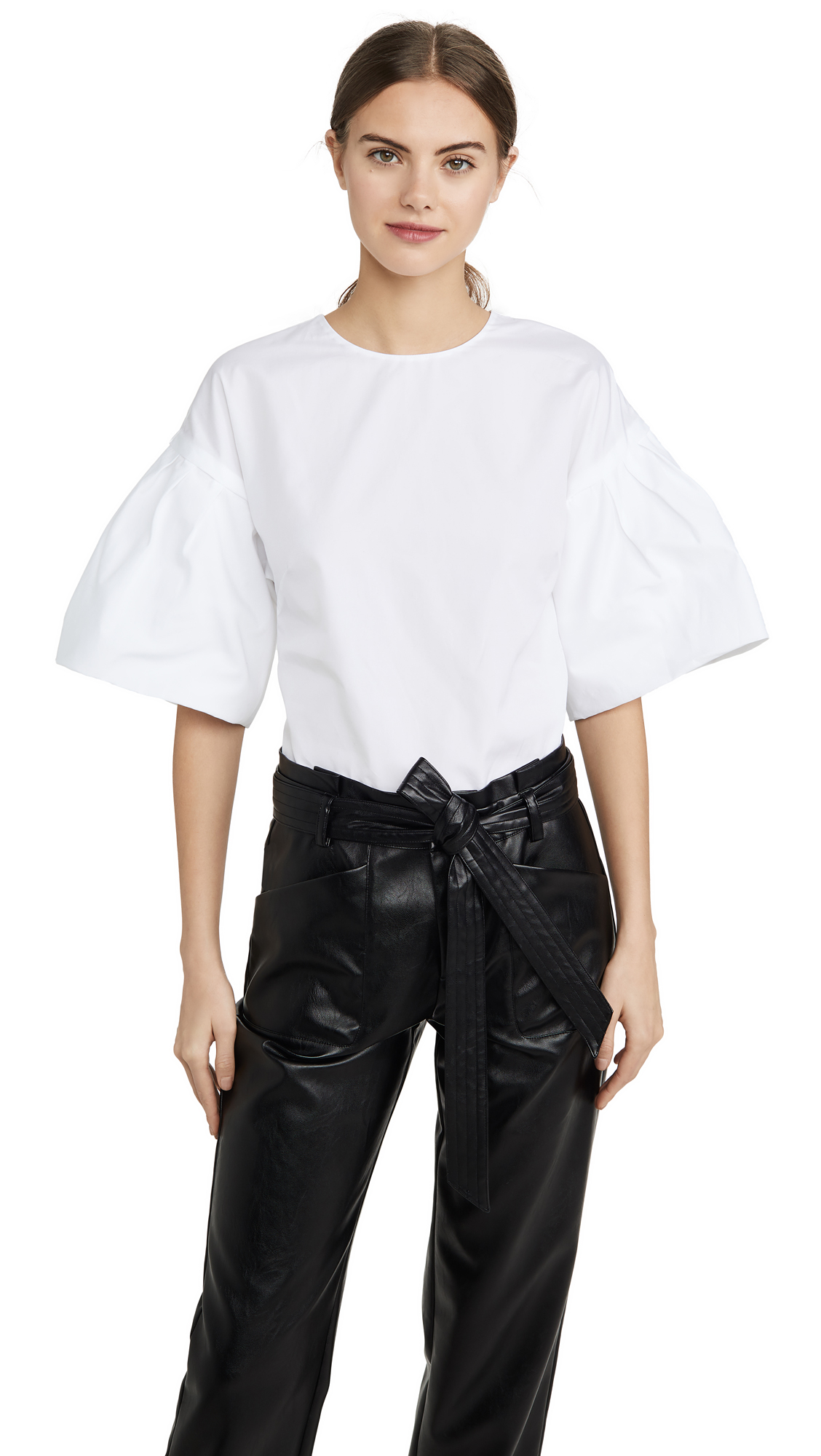 Adam Lippes Flutter Sleeve Top - 50% Off Sale