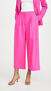 Adam Lippes Pleat Front Culottes In Stretch Wool