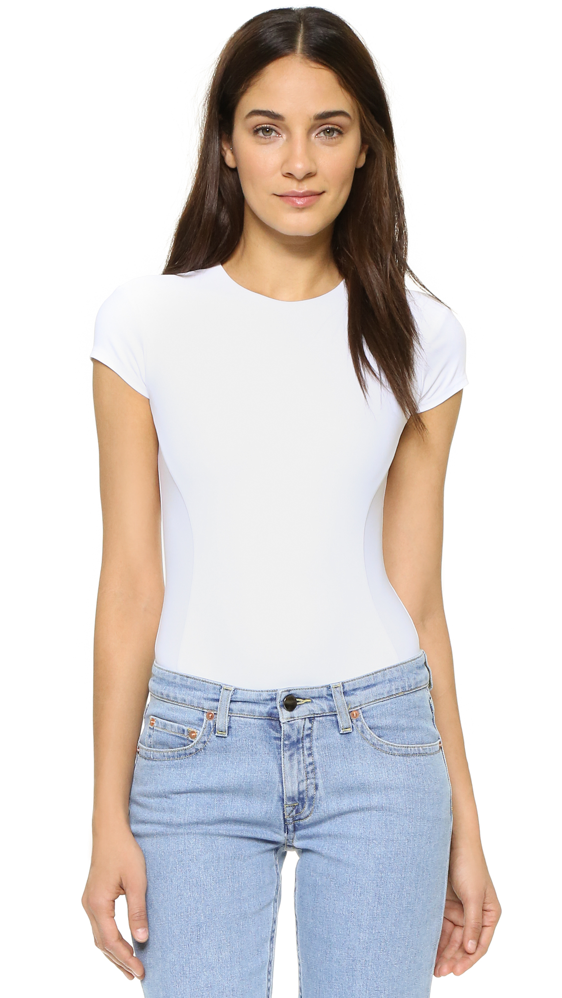 Alix Classic Collection Mulberry Thong Bodysuit - White at Shopbop