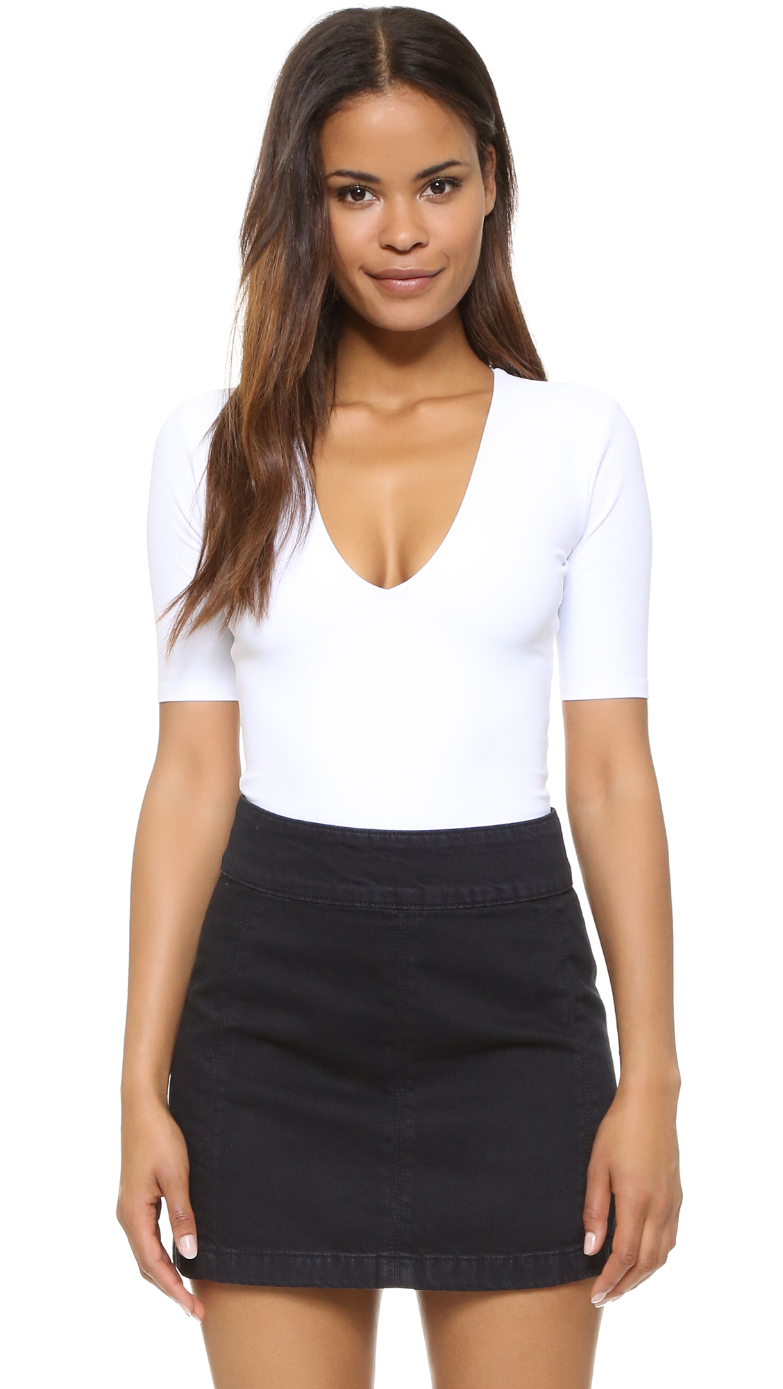 Alix Classic Collection Ludlow Thong Bodysuit - White at Shopbop