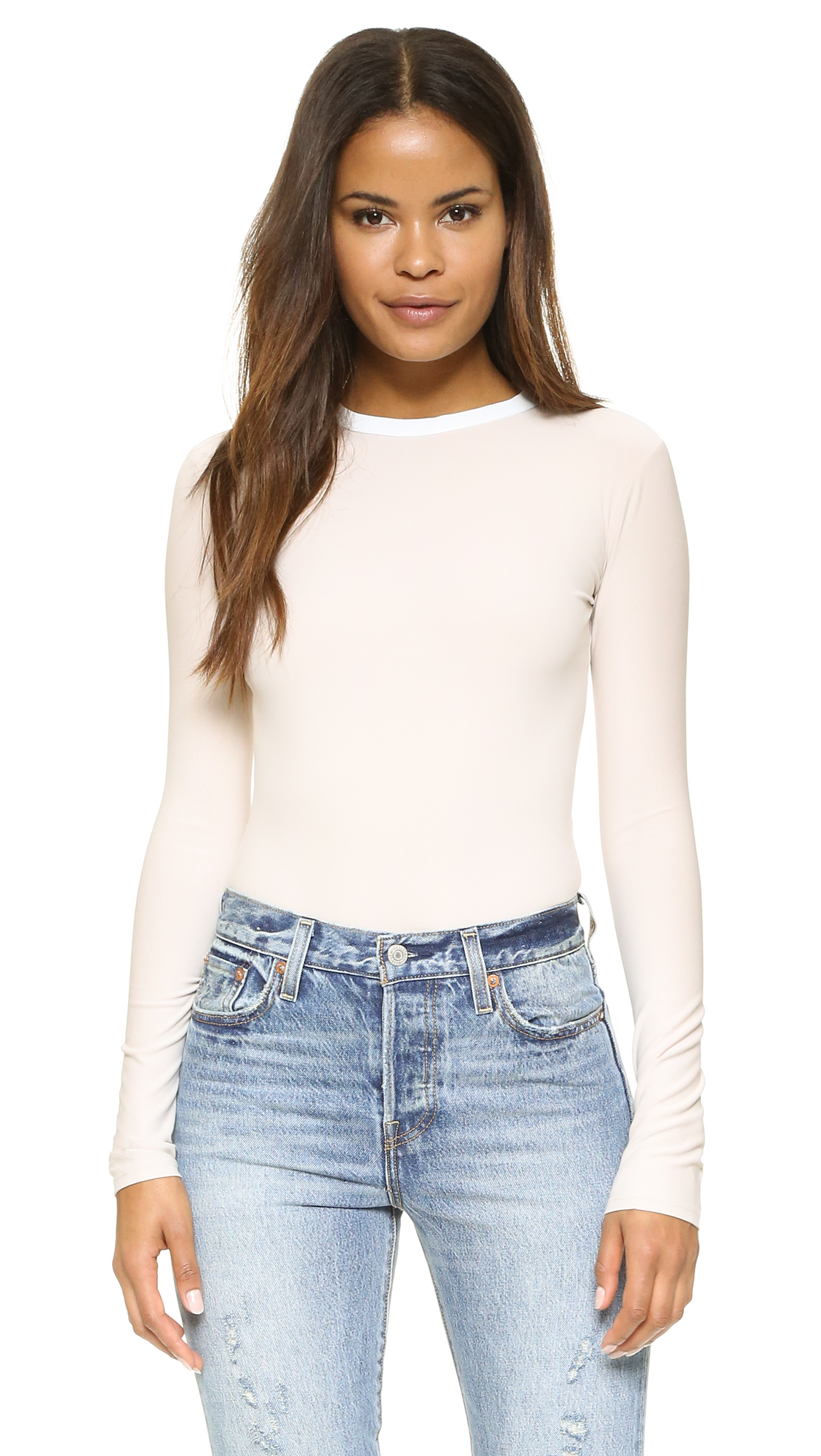 Alix Classic Collection Chloe Thong Bodysuit - Nude/White at Shopbop
