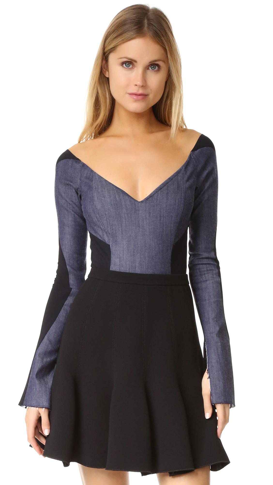 Alix Jones Bodysuit - Denim/Black at Shopbop
