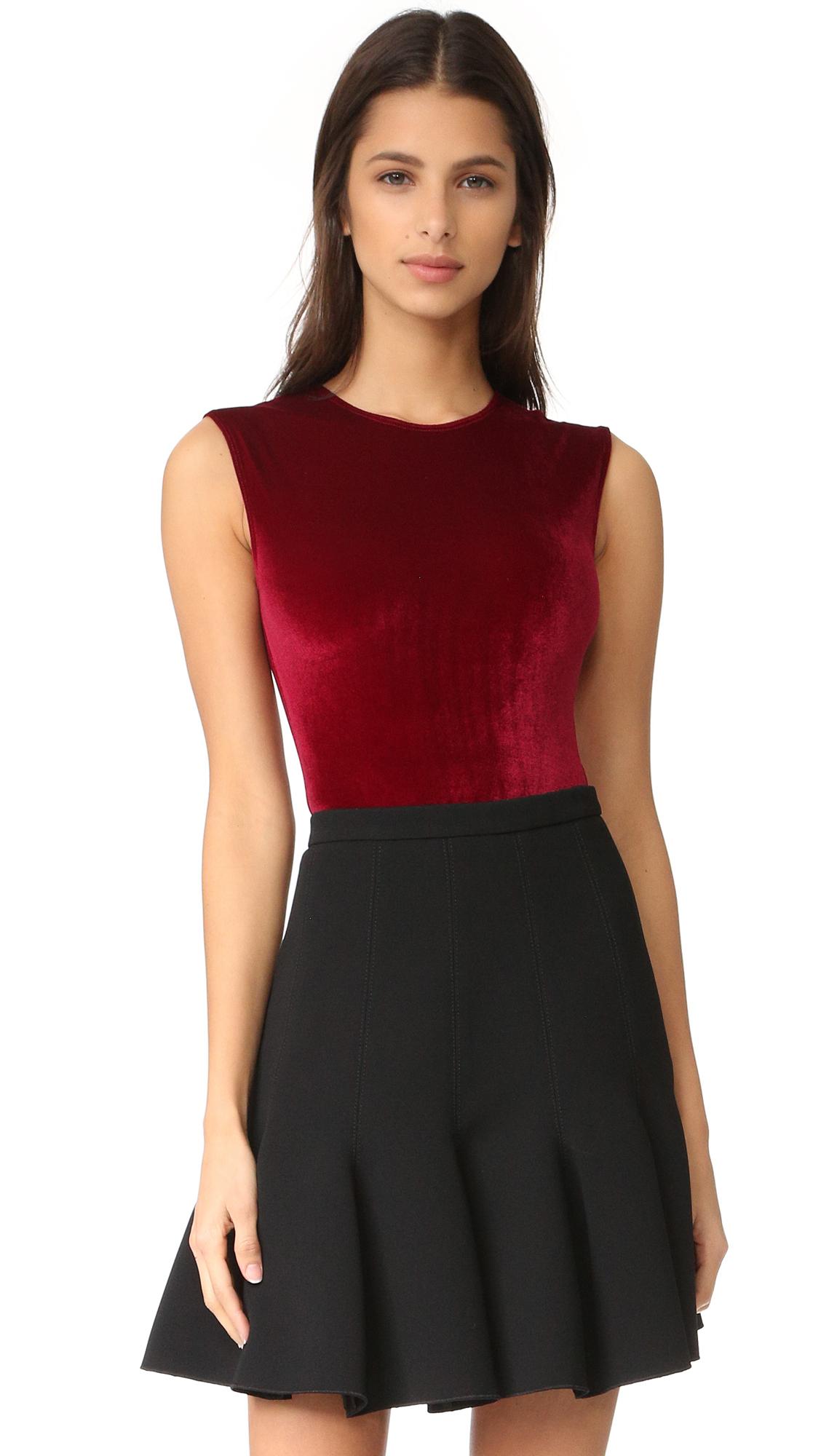 Alix Lenox Velour Thong Bodysuit - Bordeaux at Shopbop