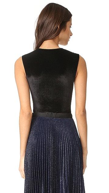 Alix Lenox Velour Thong Bodysuit
