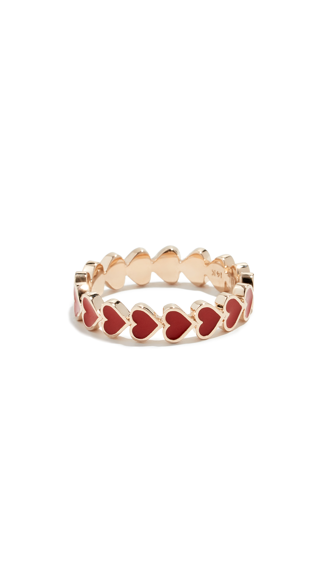 Alison Lou 14K HEART STACK RING
