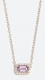 Alison Lou Миниатюрное колье из 14-каратного золота с сапфирами и бриллиантами