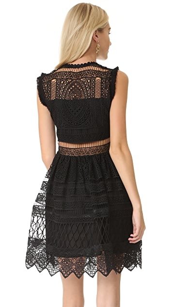 Alexis Sage Embroidered Dress