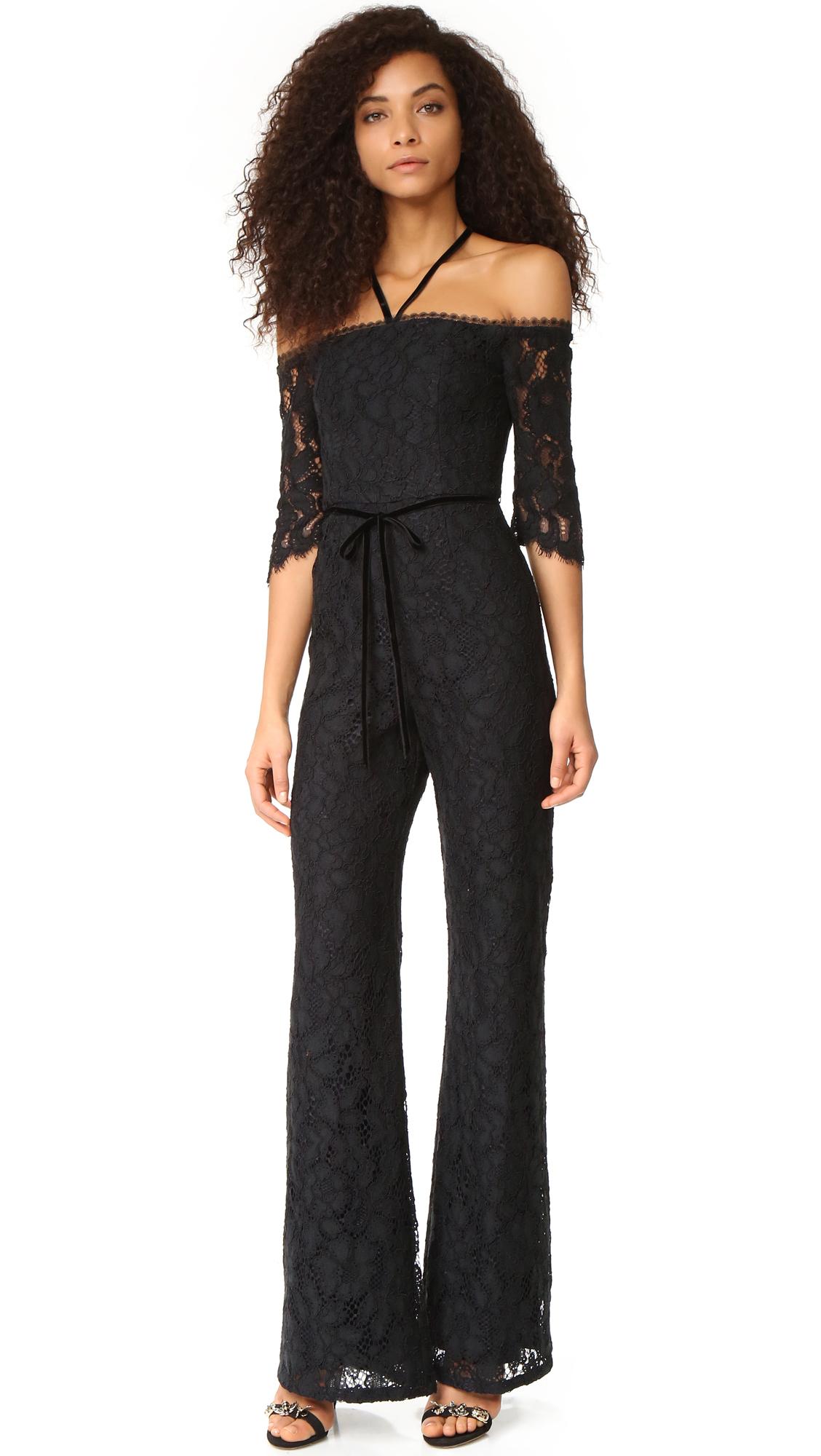 Alexis Joaquin Jumpsuit - Black Lace at Shopbop